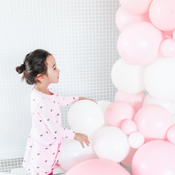 Balloon Garland Kit Pastel Pink & White - Balloonies Studio