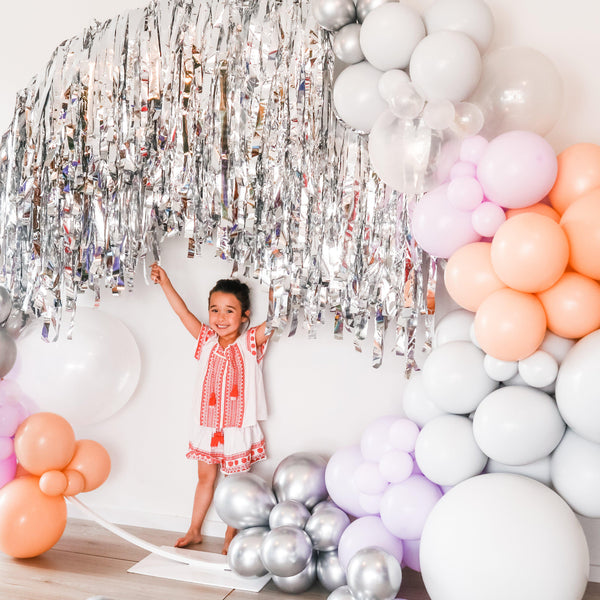 Backdrop Combo- Double Arch Balloon Garland - Balloonies Studio