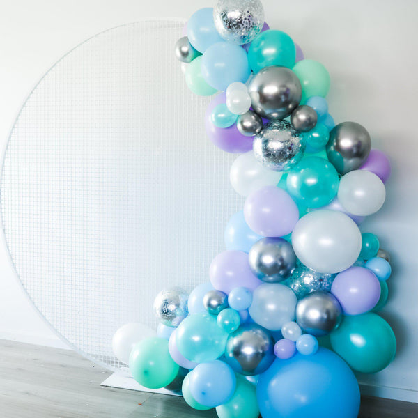Backdrop Combo- Half Arch Balloon Garland - Balloonies Studio