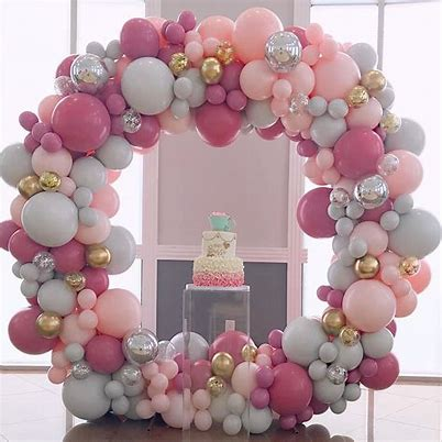 Backdrop Combo- Full Circle Balloon Garland - Balloonies Studio