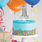 Silver  Self Inflating Balloon Cake Topper - Number 1 - Balloonies Studio