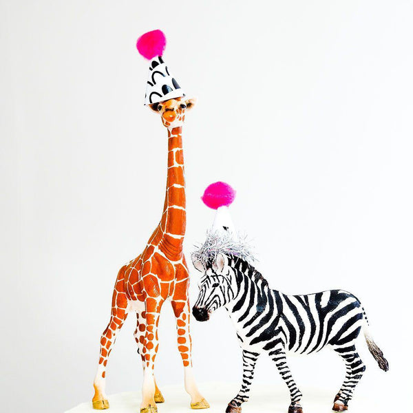 Mini Party Hats for Party Animals - Monochrome - Balloonies Studio