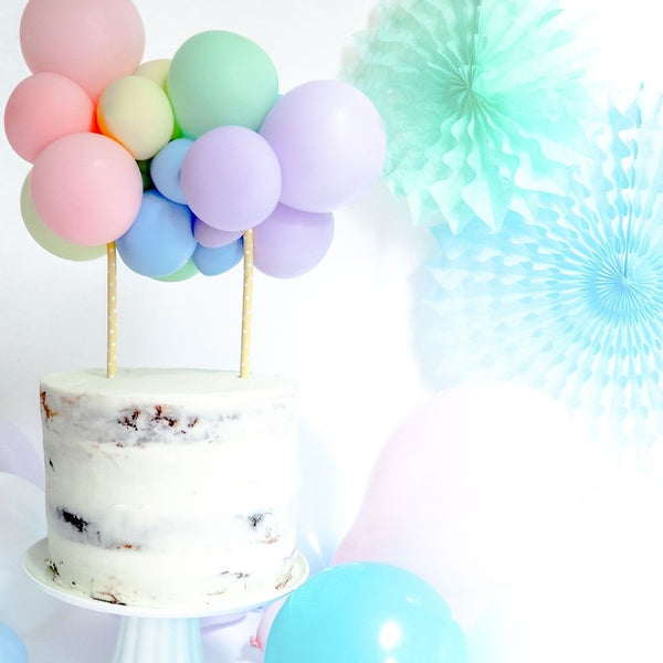 Balloon Cake Topper Kit - Pastel - Balloonies Studio