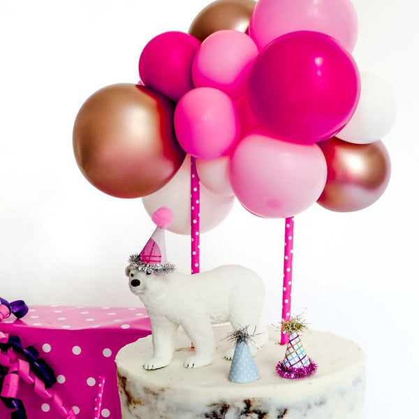 Balloon Cake Topper Kit - Pink - Balloonies Studio