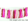 CERISE, PINK, WHITE & ROSE GOLD Tassel Garland KIT - Balloonies Studio