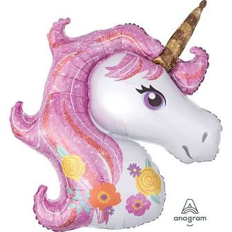 Magical Unicorn Head Supershape - Balloonies Studio
