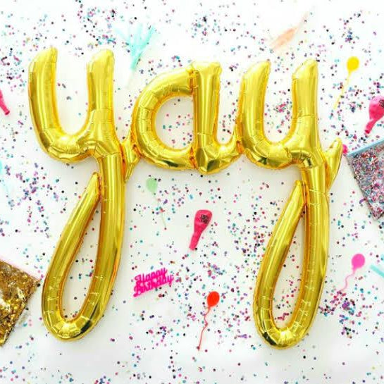YAY script Balloon Kit - Gold - Balloonies Studio