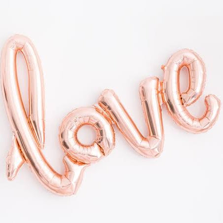 Love script Balloon Kit - Balloonies Studio