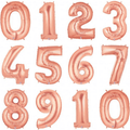 Jumbo Rose Gold 100cm Numbers 0 - 9 - Balloonies Studio