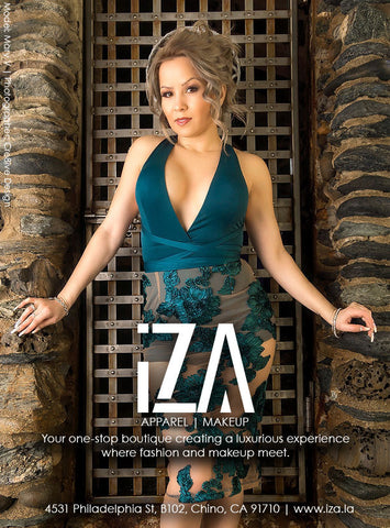 iza apparel ad for magazine