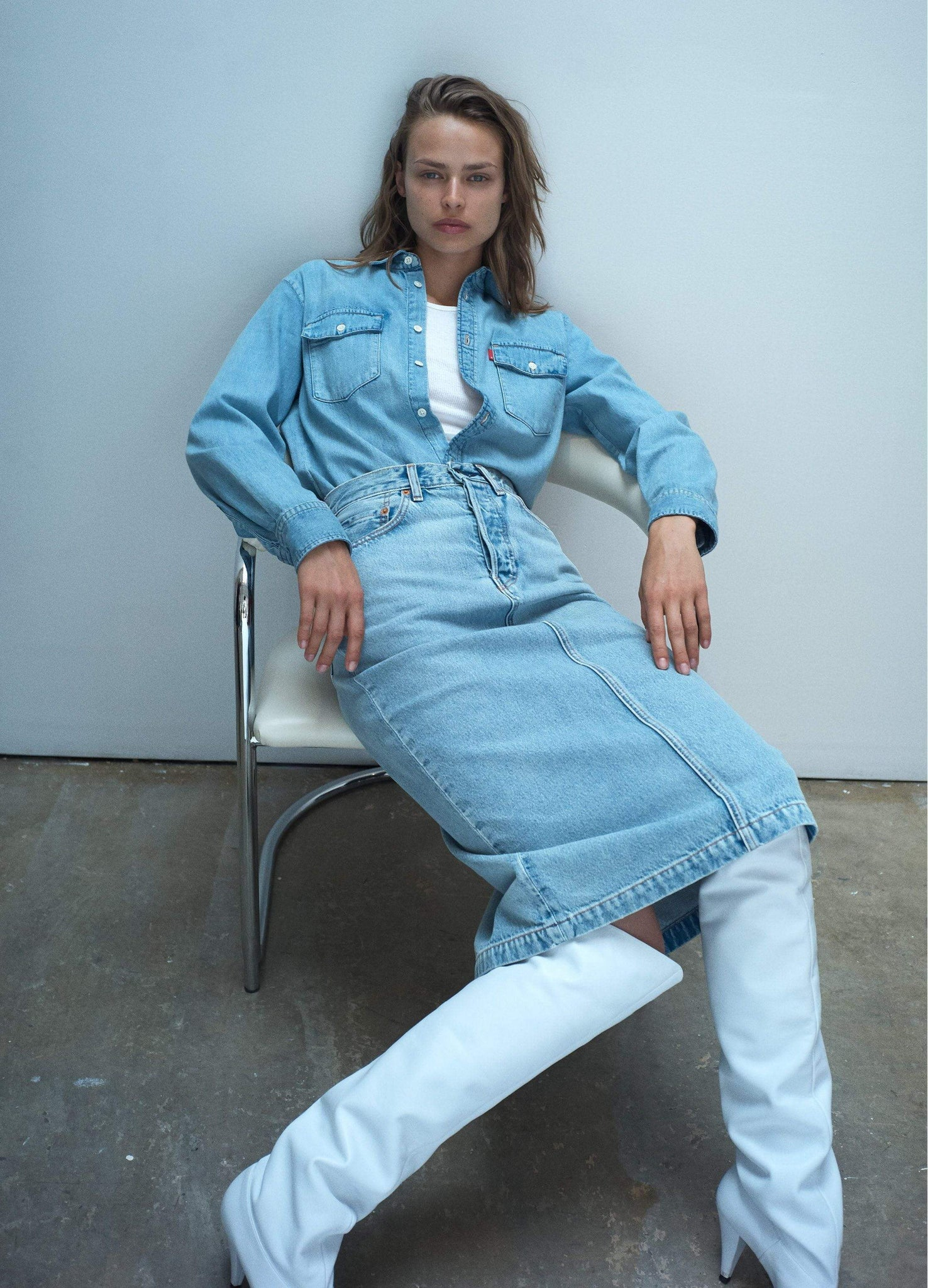 WARDROBE.NYC wardrobe No Color / One Size WOMAN 04 DENIM 8 PIECE