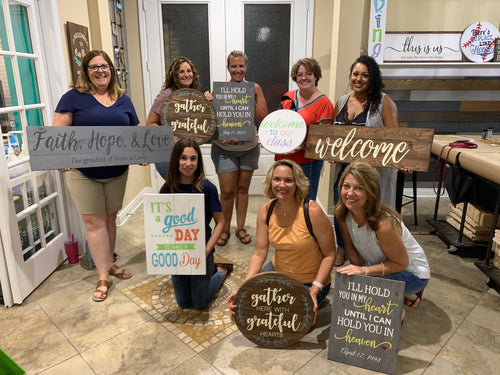 Julia P's GNO Wood Plank or Round Sign Workshop Feb 12th at 6:30 pm