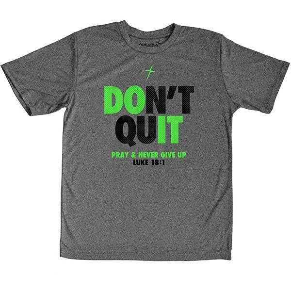 Kerusso Active Youth T - Don't Quit Christian Youth T-Shirt