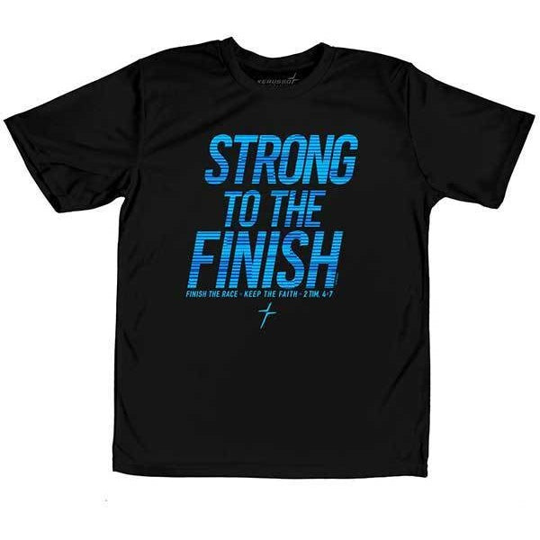 Strong To The Finish -Youth Christian T-Shirt