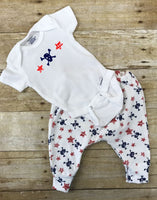 American Stars & Skulls pants and onesie or T Shirt outfit