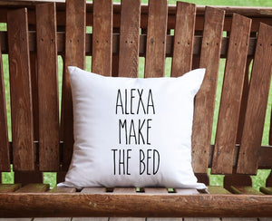 Alexa, make the bed Throw Pillow