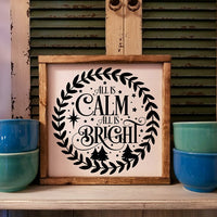 All Is Calm All Is Bright sign