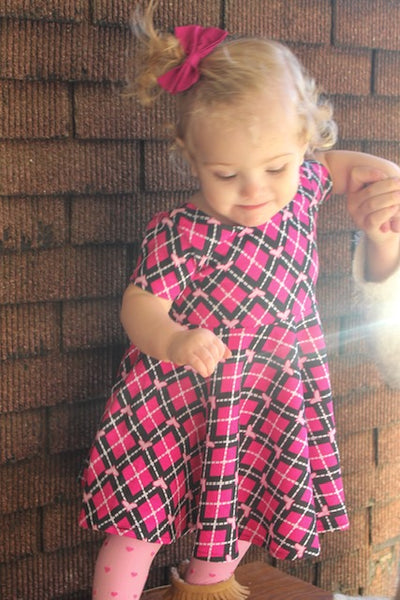 Argyle Hearts twirl dress