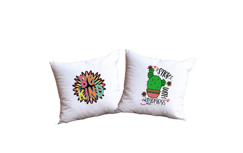 Be Kind And Stick With Kindness Throw Pillow Set