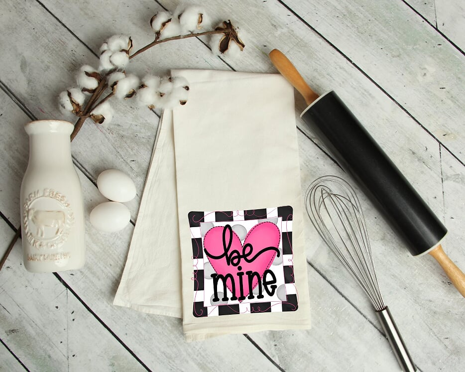 Be Mine Kitchen Tea Towel
