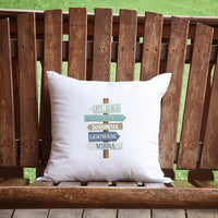 Beach Signs Throw Pillow