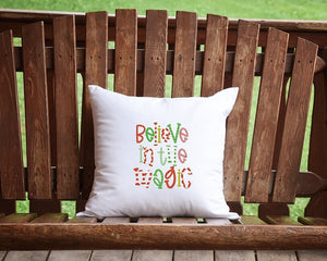 Believe In The Magic Christmas Throw Pillow