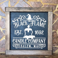 Black Flame Candle Company sign