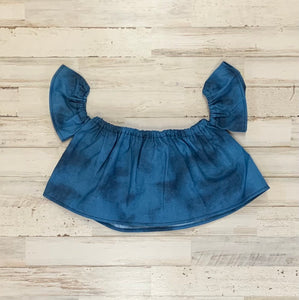 Blue Jean Baby Crop Top