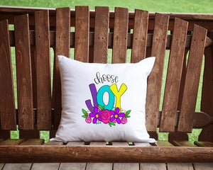 Choose Joy Throw Pillow