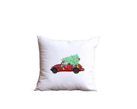 Christmas Car Throw Pillow