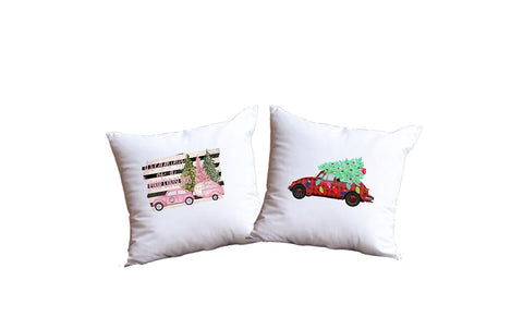 Christmas Cars Throw Pillow Set