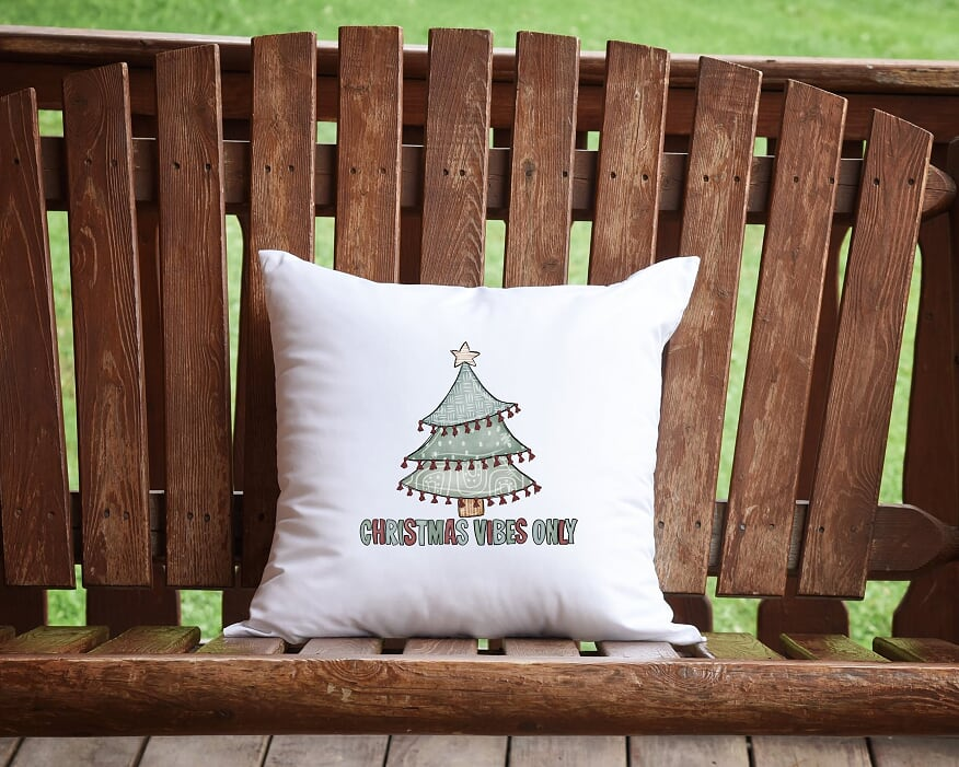 Christmas Vibes Only Throw Pillow