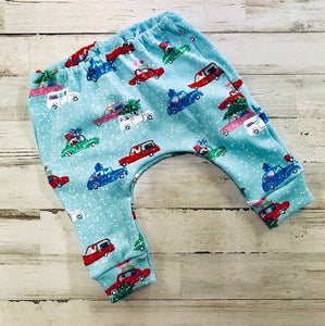 Christmas Cars Jogger Infant or Toddler Outfit