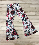 Christmas Floral Bell Bottoms