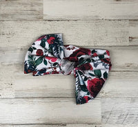 Christmas Floral Headwrap Bow