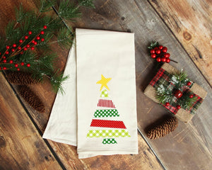 Christmas Tree Tea Towel - description Tea Towel