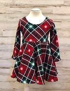 Christmas Plaid Twirl Dress