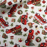 Christmas Tree truck and camper Peasant dress