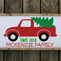 Personalized Christmas tree truck personalized sign