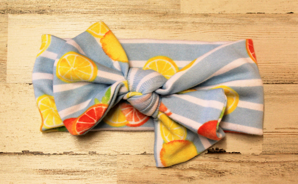 Citrus headwrap bow