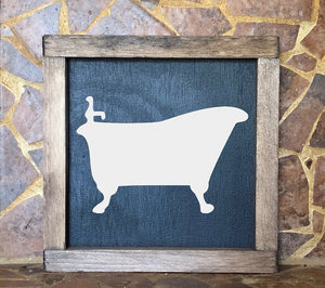 Claw Foot Bathtub Sign