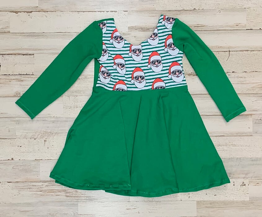 Cool Santa twirl dress