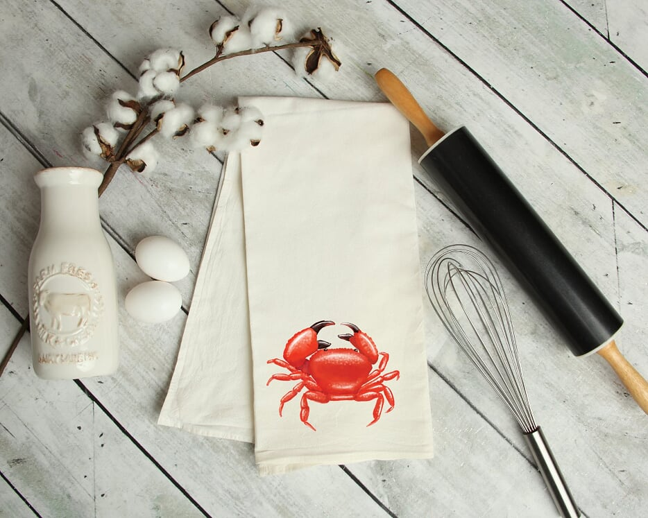 Crab Kitchen Tea Towel