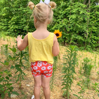 girl back daisy bummie shorts