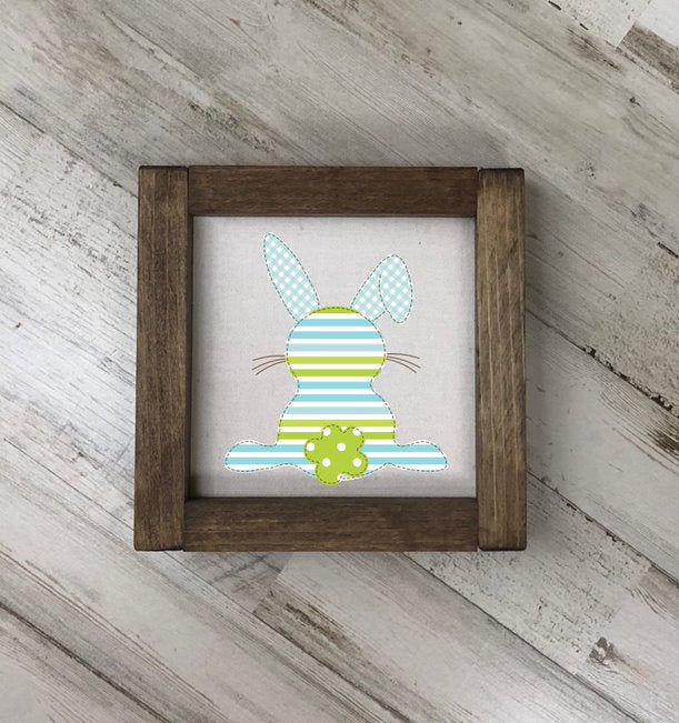 Easter Bunny Square Farmhouse Sign
