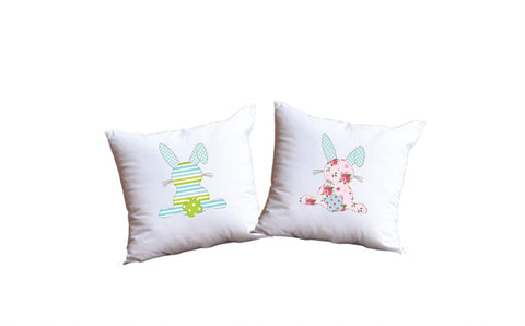 Easter Bunny Throw Pillow Set