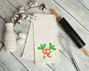 Easter Carrots Kitchen Tea Towel