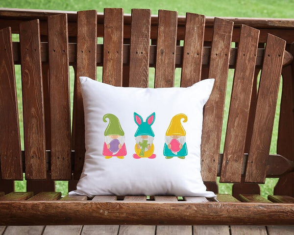 Easter Gnomes Throw Pillow