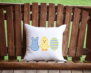Easter Trio Throw Pillow