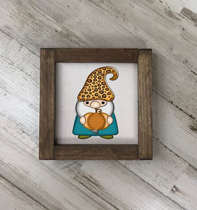 Fall Gnome Fabric Sign